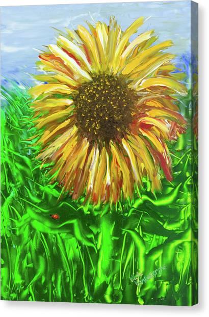 Last Sunflower Canvas Print