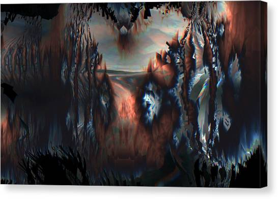 Canvas Print featuring the digital art Last Sunrise by Vadim Epstein