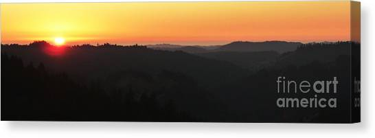 Last Sunset Before The Autumnal Equinox  Canvas Print by JoAnn SkyWatcher