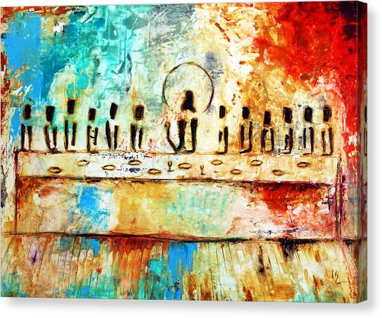 Serenity Prayer Canvas Print - Last Supper Iv by Ivan Guaderrama
