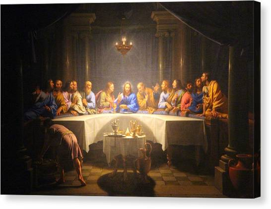 Last Supper Meeting Canvas Print