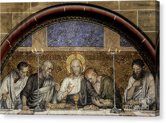 Last Supper Of Christ Canvas Print by Adrian Hancu