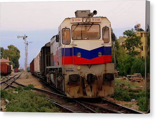 Last Train Home Canvas Print by Don Prioleau