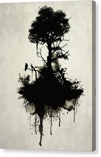Death Canvas Print - Last Tree Standing by Nicklas Gustafsson