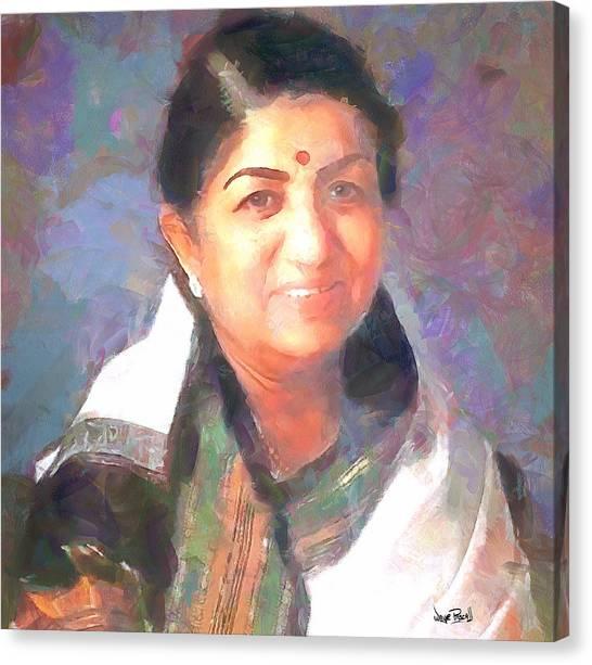 Lata Mangeshkar  Canvas Print