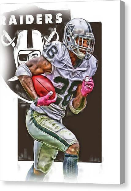 Oakland Raiders Canvas Print - Latavious Murray Oakland Raiders by Joe Hamilton