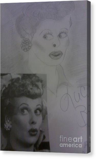 Late Actress Lucille Ball Canvas Print
