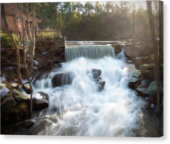 Canvas Print featuring the photograph Late Afternoon At The Duck Pond by Sue Collura