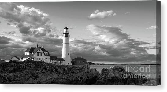 Late Afternoon Clouds, Portland Head Light  -98461 Canvas Print