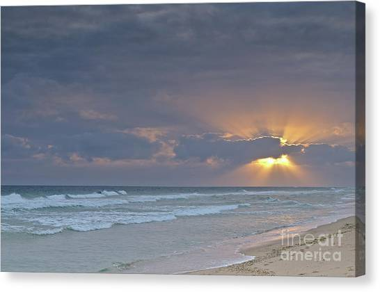 Late Afternoon In Ilha Deserta. Algarve Canvas Print