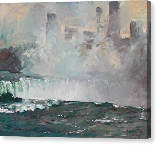 Niagara Falls Canvas Print - Late Afternoon In Niagara Falls by Ylli Haruni