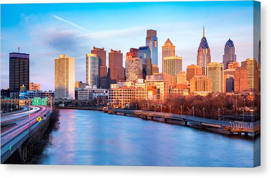 Late Afternoon In Philadelphia Canvas Print