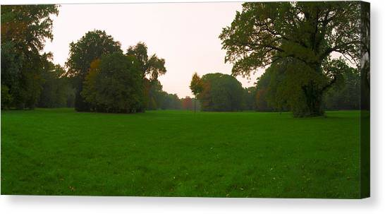 Late Afternoon In The Park Canvas Print