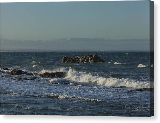 Late Afternoon Waves Canvas Print