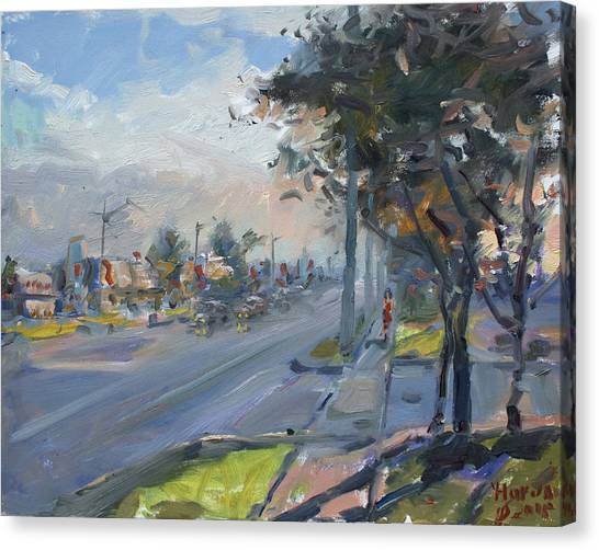 Georgetown University Canvas Print - Late Evening In Guelph Street Georgetown by Ylli Haruni