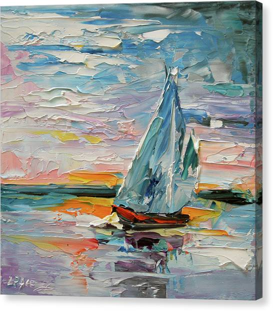 Late Night Sail Canvas Print