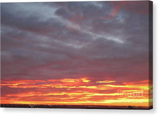 Late Prairie Sunrise Canvas Print