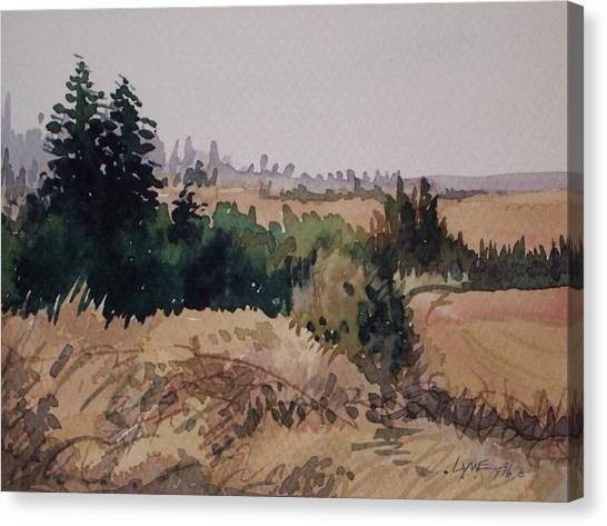Late Summer Fields Cheney Wa Canvas Print