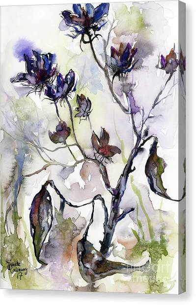 Late Summer Seed Pods Canvas Print