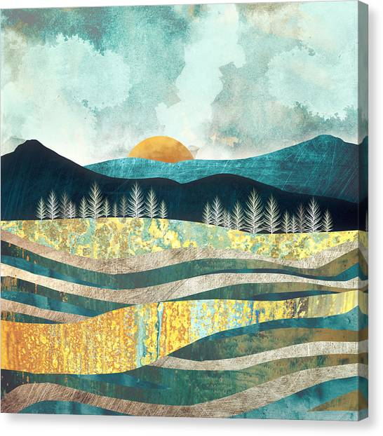 Summer Canvas Print - Late Summer by Spacefrog Designs