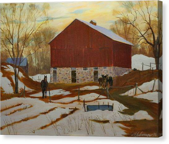Late Winter At The Farm Canvas Print