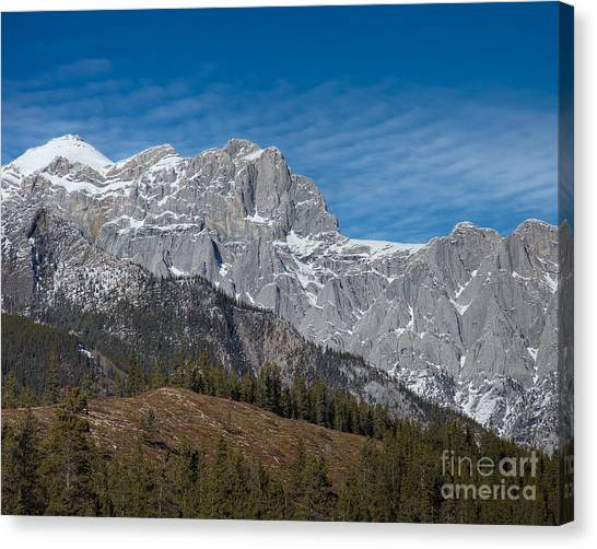 Late Winter In The Rockies Canvas Print by Royce Howland