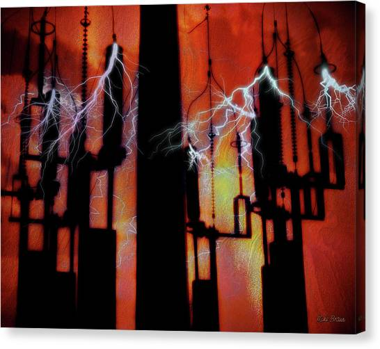 Latent Voltage Canvas Print