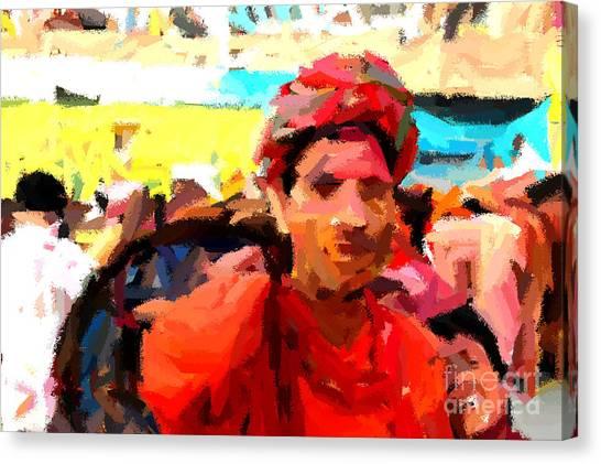 Lathmaar Holi Of Barsana-1 Canvas Print
