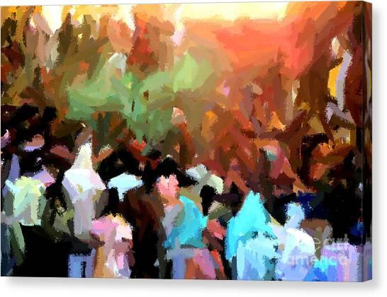 Lathmaar Holi Of Barsana-4 Canvas Print