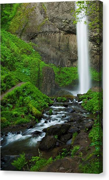 Latourell Falls Oregon Canvas Print