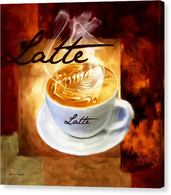 Cafes Canvas Print - Latte by Lourry Legarde