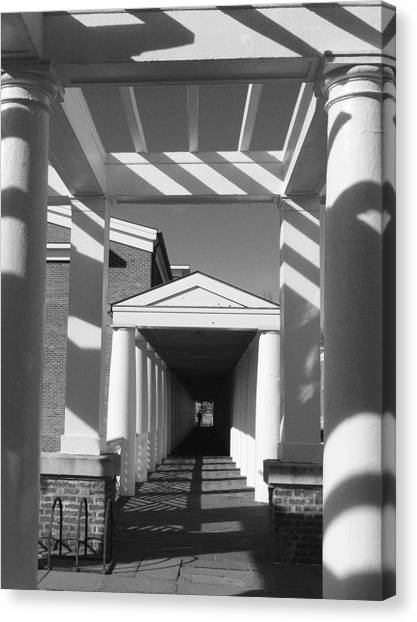 University Of Virginia Canvas Print - Lattice And Shadows by Steven Ainsworth