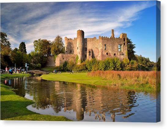 Laugharne Castle 1 Canvas Print