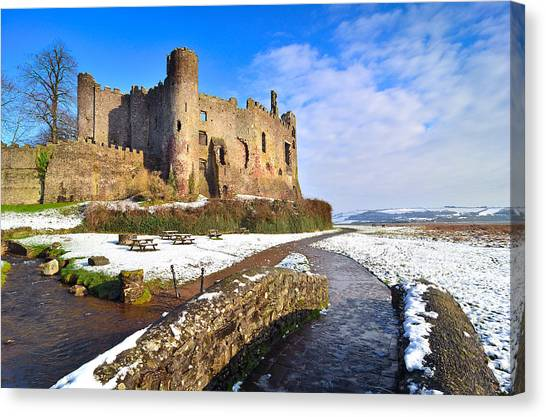 Laugharne Castle 2 Canvas Print