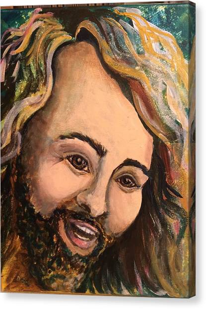 Laughing Jesus Canvas Print
