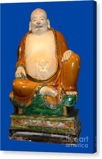Laughing Monk Canvas Print