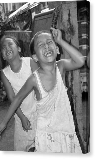 Laughter Is Good Canvas Print by Jez C Self