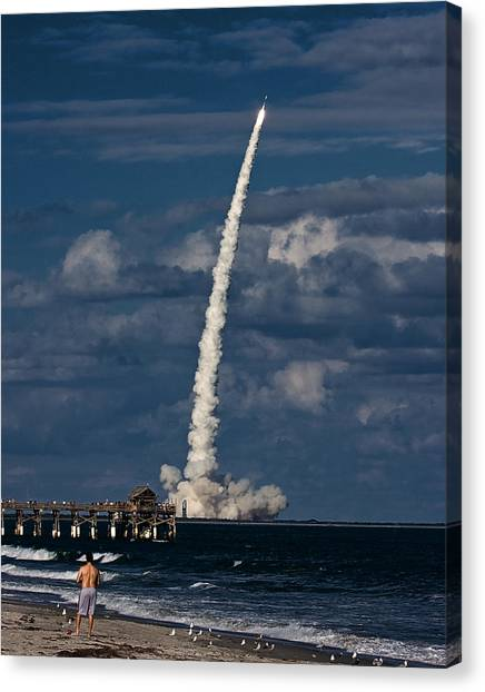 Launch View Canvas Print