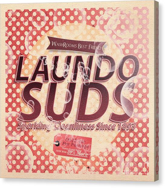 Groom Canvas Print - Laundo Soap Suds Advertising by Jorgo Photography - Wall Art Gallery