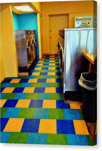 Laundry Colors Canvas Print