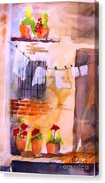 Laundry Day Canvas Print by Sandi Stonebraker