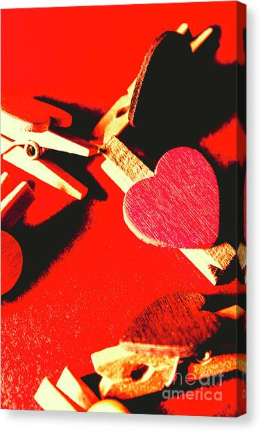 Heart Shape Canvas Print - Laundry Love by Jorgo Photography - Wall Art Gallery