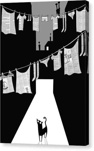 Laundry Canvas Print - Laundry by Andrew Hitchen