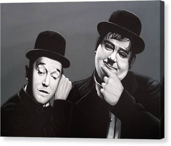 Cuckoos Canvas Print - Laurel And Hardy by Paul Meijering
