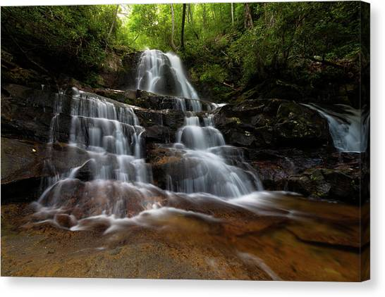 Laurel Falls Great Smoky Mountains Tennessee Canvas Print