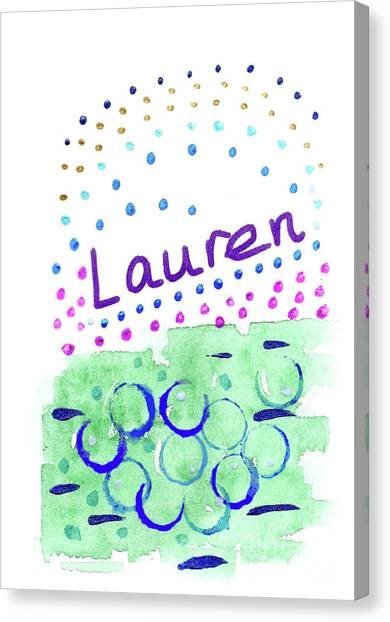 Canvas Print featuring the painting Lauren 2 by Corinne Carroll