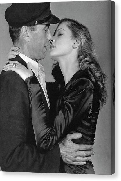Lauren Bacall Humphrey Bogart To Have And Have Not 1944 Canvas Print