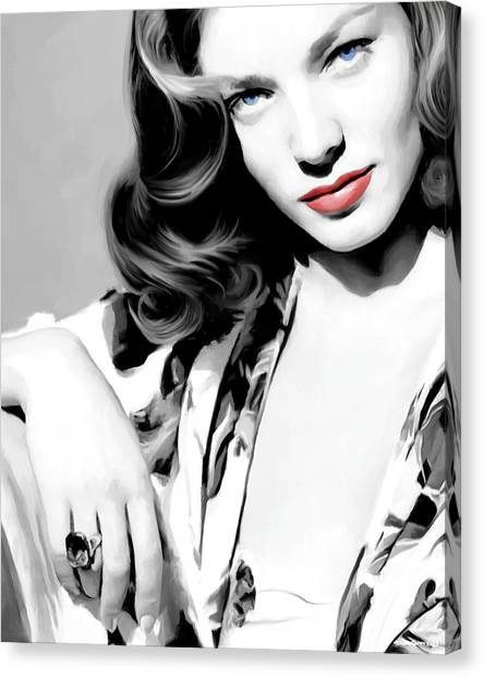 Lauren Bacall Large Size Portrait 2 Canvas Print