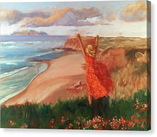 Lauren In Portugal Canvas Print