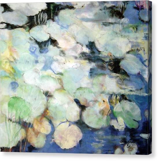 Lauren's Lillies Canvas Print by Anita Stoll